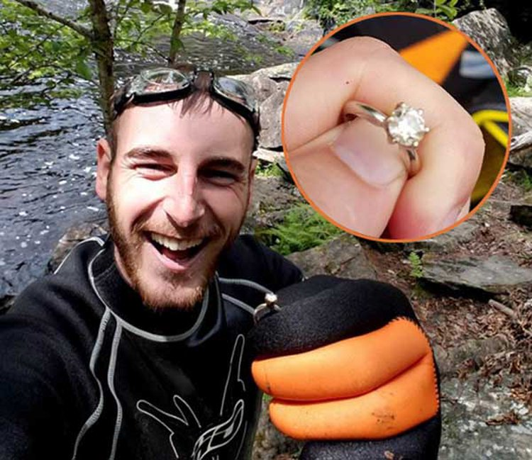 Maine Man Gets to Propose All Over Again After Rescuing Engagement Ring From Under a Waterfall